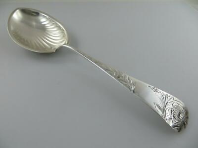 Jac Rose by Gorham Sterling Silver Preserve Spoon Bright-Cut with Grapes 7 1//2/""