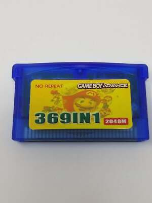 Gameboy advance 369 in 1 multi cart for GBA Games Mario, Pokemon & More