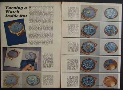 Bulova Wristwatch 1947 vintage School of Watchmaking pictorial