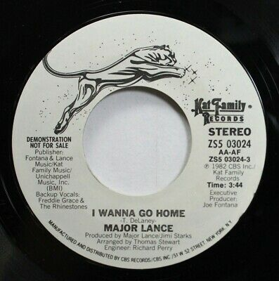 Soul Promo 45 Major Lance - I Wanna Go Home / I Wanna Go Home On Kat Family Reco
