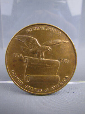 Vintage 1976 Bronze American Bicentennial Medal Independence Hall