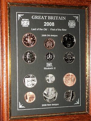 Framed 2008 First & Last Farewell Decimal Shield Design Coin Collector Gift Set