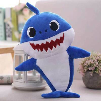 Toy Kids Soft Children Doll Singing Baby Shark 3 Colors Gift Plush with Light
