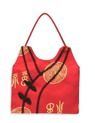 Red Asian Hand Bag Purse Oriental Chinese Japanese Ethnic Costume Accessory New
