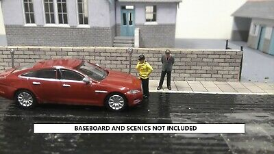 GETTING A TICKET scenic set containing oxford diecast 1:76 red jag