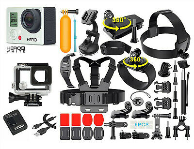 GoPro HERO 3 White Edition Action Camera + 40PCS Accessory + Waterproof Case