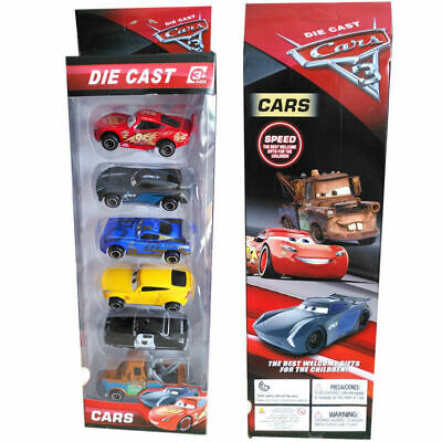 6PCS Pixar Cars 3 Lightning McQueen Racer Diecast Car Collection Set Gift Toys