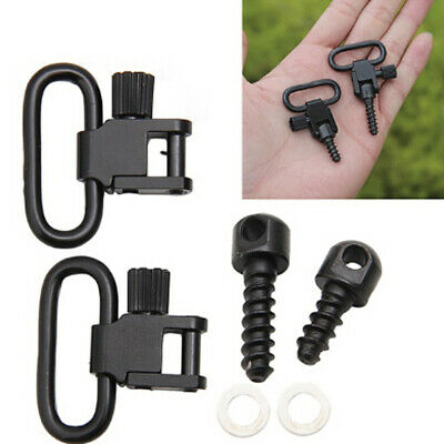 Detachable Outdoor Gun Rifle Sling Swivels Portable Sport Hunting Set + Screw US