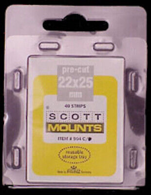 Scott/Prinz US Regular Issue Vertical Stamp Mounts Size: 22x25 Black #904 B