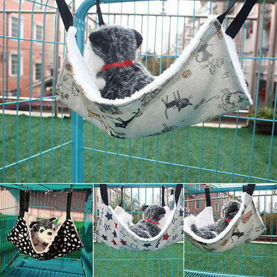 HR- EP_ Rabbit Chinchilla Cat Cage Hammock Small Pet Dog Puppy Bed Cover Blanket