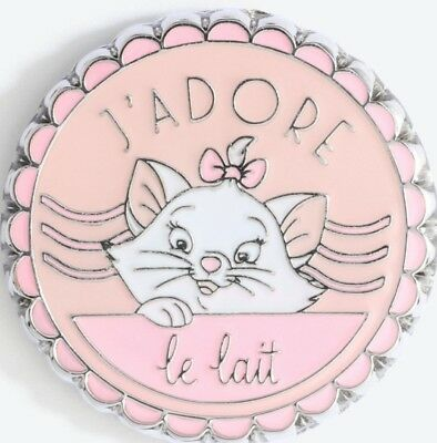 Disney Aristocats White Kitten Marie Loves Milk J'Adore Le Lait pin