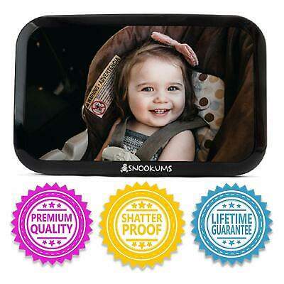 Baby Mirror for Car - Safely Monitor Infant Child in Rear Facing Car Seat - Wide