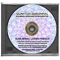 SUBLIMINAL LEARN FRENCH Cd-Language Sleep Learning Aid To Read Write & Speak