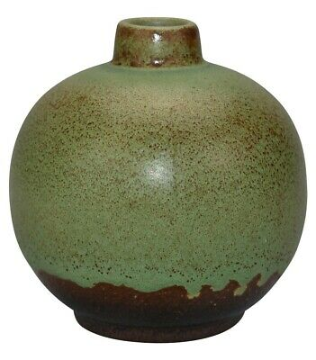 German Pottery Bulbous Drip Arts and Crafts Vase