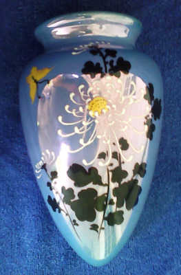 Unique Wall Pocket Vase Art Deco Lusterware