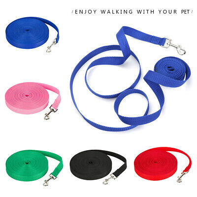 Dog Lead Leash Strap Belt Pet Walking Training Obedience Traction Harness Rope