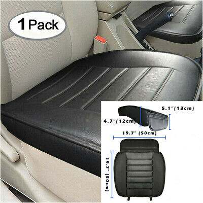Universal 53x50cm Black PU Car Front Seat Cover Protector Cushion For Seasons