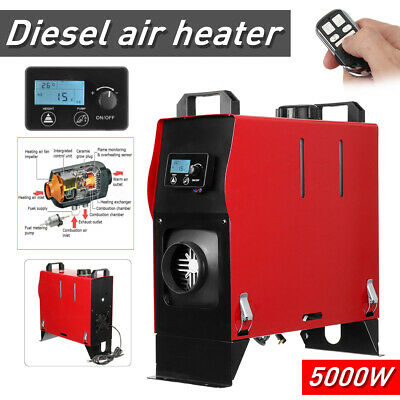 5KW 12V Diesel Air Heater All In 1 LCD Thermostat For Caravan Motorhome Trailer