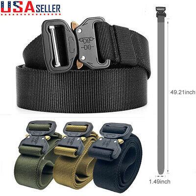 Mens Tactical Military Training Heavy Duty Nylon Quick Release Rigger's Belt