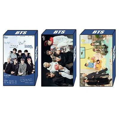 30pcs/Set Kpop BTS Lomo Card BANGTAN BOYS J-HOPE JIMIN SUGA V HD Polaroid Photo