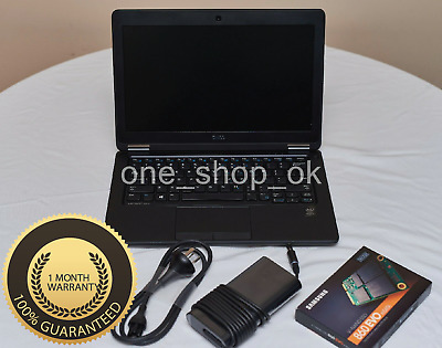 "Dell Latitude E7250  i7 5600U 2.6Ghz 16GB 500GB 12.5"" win10 Backlit"