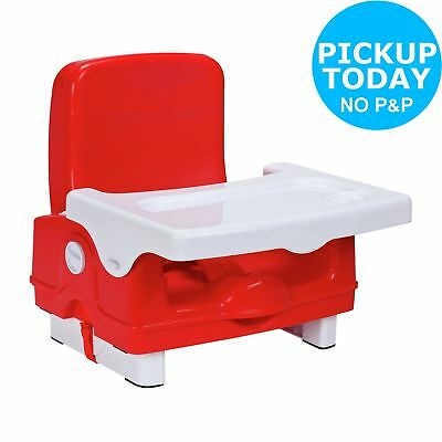 Cuggl Booster Seat with Foldaway Tray - Red.