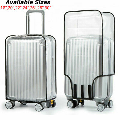 Luggage Protector Suitcase Cover Dustproof Transparent Waterproof Travel 18-30""