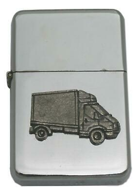 Luton Van Windproof Petrol Lighter FREE ENGRAVING Delivery Drivers gift 447