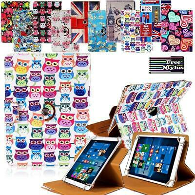 """For 8"""" 10"""" Teclast tablet Folio Rotating Stand Wallet Leather Cover Case +Stylus"""
