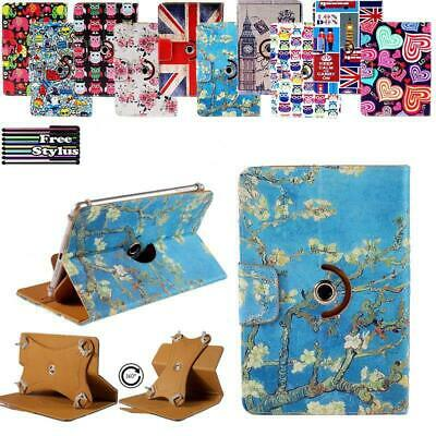 """For 7"""" 8"""" 10"""" Huawei Media Tablet Folio Rotating Stand Wallet Leather Cover Case"""