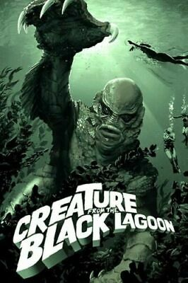 HY640 Art Poster Creature From The Black Lagoon Classic Horror Movie Silk Print