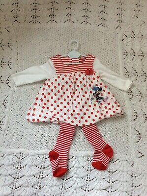 reborn Baby / baby girl dress And Tights 0-3 Mths