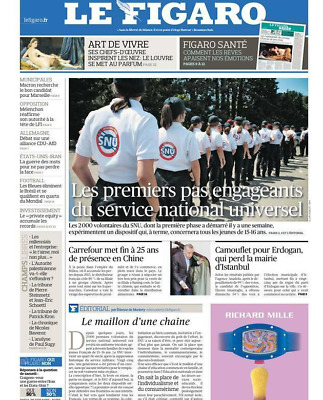 Le Figaro**24/6/2019*Neuf Sous Film**N°23283**Service National Universel**Bleues