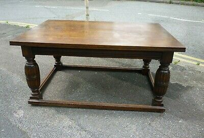 Really Nice Antique Carved Oak Refrectory Table