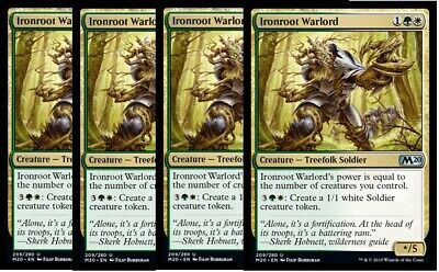 4x Ironroot Warlord-NM- M20 Core Set 2020 Gold Uncommon