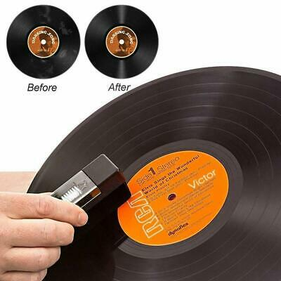 Non-toxic 2 in 1Set Vinyl Record Brush Soft Flannel Anti-static Dust Cleaner Pad