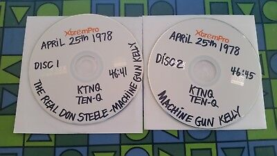 The Real Don Steele April 25 1978 ~ Ktnq Tenq Mg Kelly Los Angeles 2 Cd Aircheck