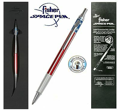 Fisher Space Pen #AFP5 Emballé / Rouge Blanc & Bleu Click Action Stylo à Bille