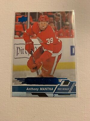 2018-19 UD Overtime Hockey Blue Parallel. Anthony Mantha. #61. Detroit Red Wings