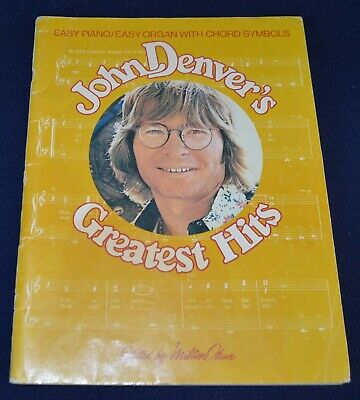 Vintage John Denver's Greatest Hits 1976 piano music song book