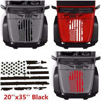 20/'/'x35/'/' Car Vinyl Decal Stickers USA Flag Style Graphics For Truck Police Jeep