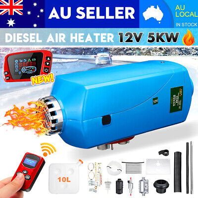 AU 12V 5KW 4-Tunnel Remote Control Diesel Air Heater Metal Shell For Motorhome