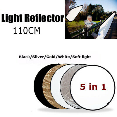 5Pcs Photography Light Multi Collapsible Reflector Photo Studio Board 110cm