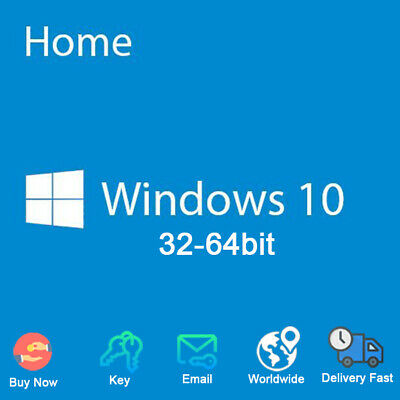 Windows 10 Home for PC License Key Code 32 / 64 bit Activation Genuine
