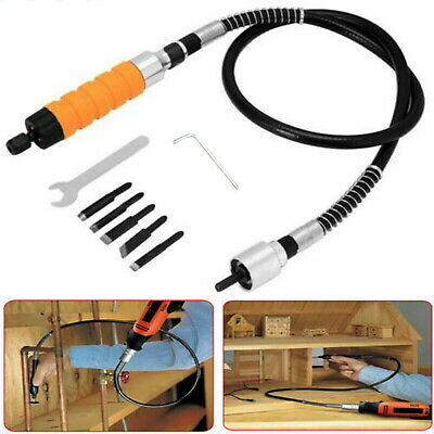 Flexible DIY Wood Chisel Carving Knives Wrench Shaft Tool Set For Electric Drill