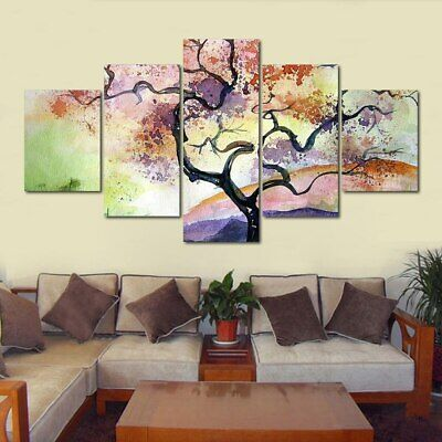 Flower Tree Abstract Painting Canvas Picture Modern Poster Art Wall Home Decor