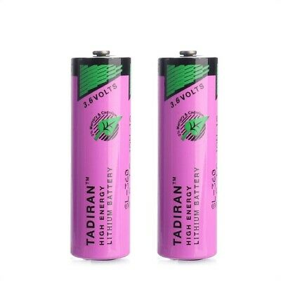 2pc 3.6V 2400mAh 6ES7971-0BA00 Back-up Battery For Siemens Simatic S7-400 PS 405