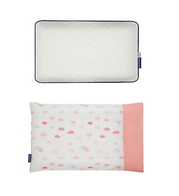 Clevamama Clevamama Baby Pillow + Pillowcase 100% Cotton, Coral