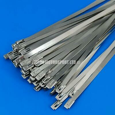 50 x Stainless Steel Ties / Clamp Ideal For Exhaust Heat Insulation Wrap (300mm)