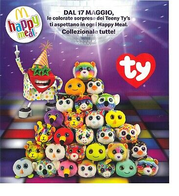 McDonald's Happy Meal Peluche TEENY TY's  A SCELTA 2019 ITALIA